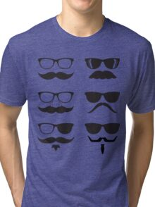 Hipsters Characters Tri-blend T-Shirt