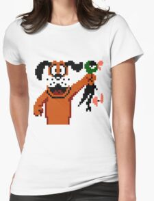 Duck Hunt Dog Womens Fitted T-Shirt