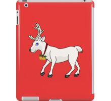 White Reindeer with Gold Christmas Jingle Bells iPad Case/Skin