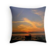 Sunset at The Burrow, Rosslare... Throw Pillow