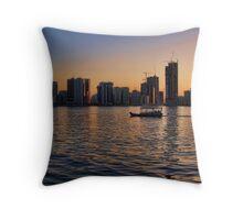Khalid Lagoon Sunset Throw Pillow