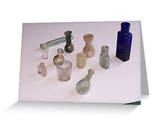 Roman bottles Greeting Card
