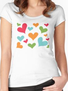 ♥ Sully's hearts ♥ Women's Fitted Scoop T-Shirt