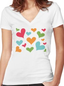 ♥ Sully's hearts ♥ Women's Fitted V-Neck T-Shirt