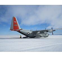 C130 Hercules on Skis Antarctica Photographic Print