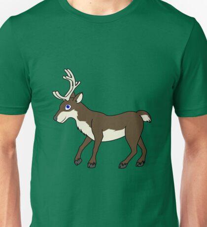 Brown Reindeer with Antlers Unisex T-Shirt