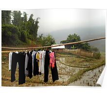 Hanged clothes - Vietnam Poster