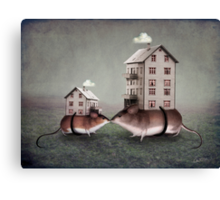 Your place or mine? Canvas Print