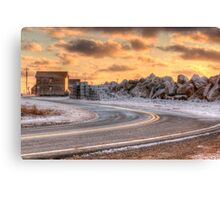 A Chilly Day at the Yarmouth Bar Canvas Print