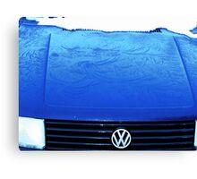 Bonnet Frozen Blue Canvas Print