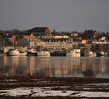 A Winter View of Yarmouth Town by Debbie  Roberts