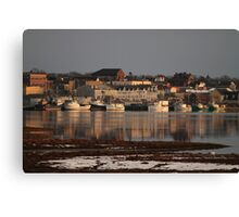A Winter View of Yarmouth Town Canvas Print