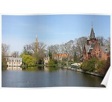Minnewater in Bruges,  Belguim Poster