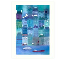 Paris Blues Art Print