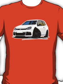 VW Golf R White (Black Wheels) T-Shirt