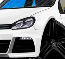 VW Golf R White (Black Wheels) Sticker