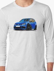 VW Golf R Blue (Black Wheels) Long Sleeve T-Shirt