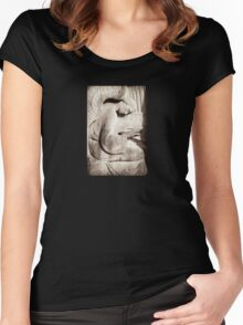 angel playing organ Women's Fitted Scoop T-Shirt