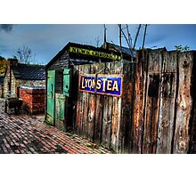 Alleyway Fence Sign Photographic Print