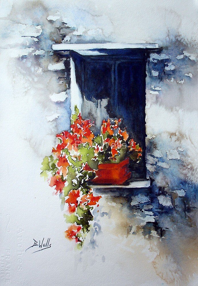 Tuscany Window by Bev  Wells