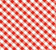 Red Gingham Case iPhone 2012 by Ruth Fitta-Schulz