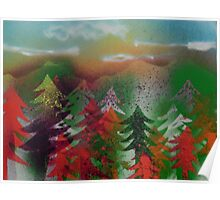 Autumn Pine Forest Poster