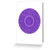 indigo third eye chakra Greeting Card