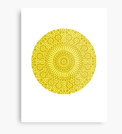 yellow solar plexus chakra Metal Print