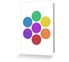 seven chakras circle Greeting Card