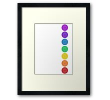 seven chakra circles Framed Print