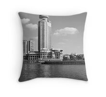 Hotel on the Shore of the Nile, Cairo, Egypt Throw Pillow