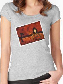 Ukulele Lady Postcard Women's Fitted Scoop T-Shirt