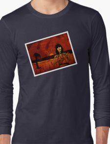 Ukulele Lady Postcard Long Sleeve T-Shirt