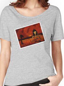 Ukulele Lady Postcard Women's Relaxed Fit T-Shirt