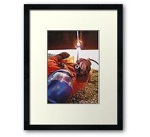 Pipeline welding. Framed Print