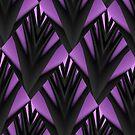 Purple & Black~ iPhone Case by Greta  McLaughlin
