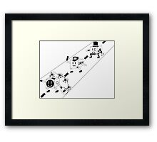 Cubes and Robbers Framed Print