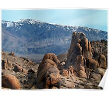 Across Owens Valley - U.S. Highway 395 California Poster