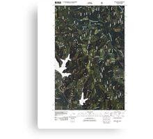 USGS Topo Map Washington State WA Bead Lake 20110428 TM Canvas Print