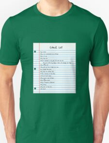 Million Dollar Check List Unisex T-Shirt