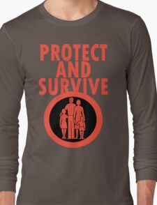 Protect And Survive Boy Long Sleeve T-Shirt