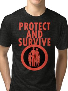 Protect And Survive Boy Tri-blend T-Shirt