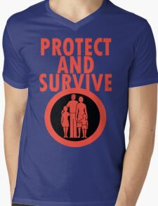 Protect And Survive Boy Mens V-Neck T-Shirt