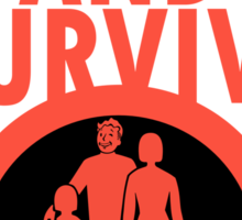 Protect And Survive Boy Sticker