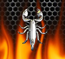 Chrome scorpion and fire Design 4 by Skatersollie