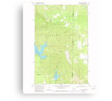 USGS Topo Map Washington State WA Bead Lake 239968 1968 24000 Canvas Print