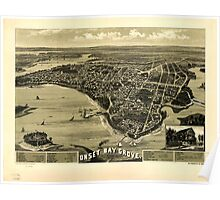 Panoramic Maps Onset Bay Grove Wareham Mass l885 Poster