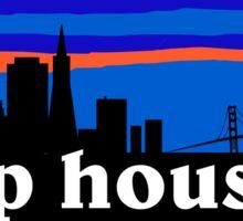 Deep house MUSIC - San Francisco skyline silhouette Sticker