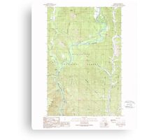 USGS Topo Map Washington State WA Winton 244770 1989 24000 Canvas Print