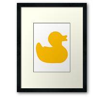 Rubber duck Framed Print